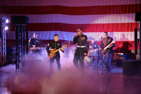 The MARFORPAC Band Performs at the MARFORPAC Birthday Ball celebrating 239 Years of the United States Marine Corps.