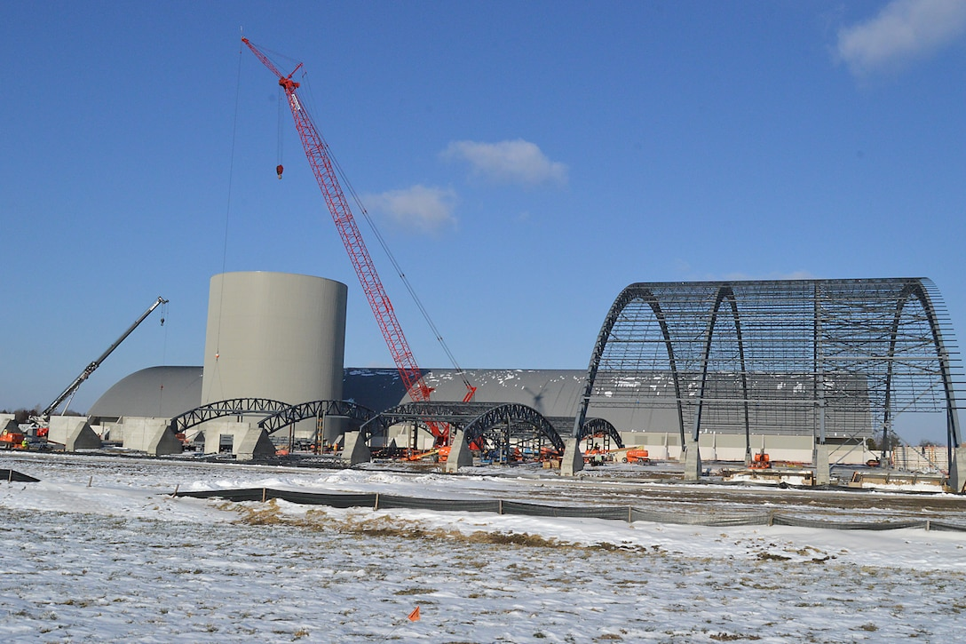 DAYTON, Ohio -- An overall look at the Northeast corner of the museum's fourth building construction site. The 224,000 square foot building, which is scheduled to open to the public in 2016, is being privately financed by the Air Force Museum Foundation, a non-profit organization chartered to assist in the development and expansion of the museum's facilities. (U.S. Air Force photo)