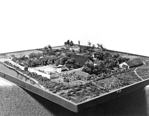 In 1970, the U.S. military attempted to rescue American POWs held at a camp in Son Tay, North Vietnam. DIA coordinated intelligence production during the planning stages of the operation and provided finished intelligence analysis to the Joint Chiefs of Staff. This model of Son Tay Prison Camp was constructed from overhead reconnaissance photos.
