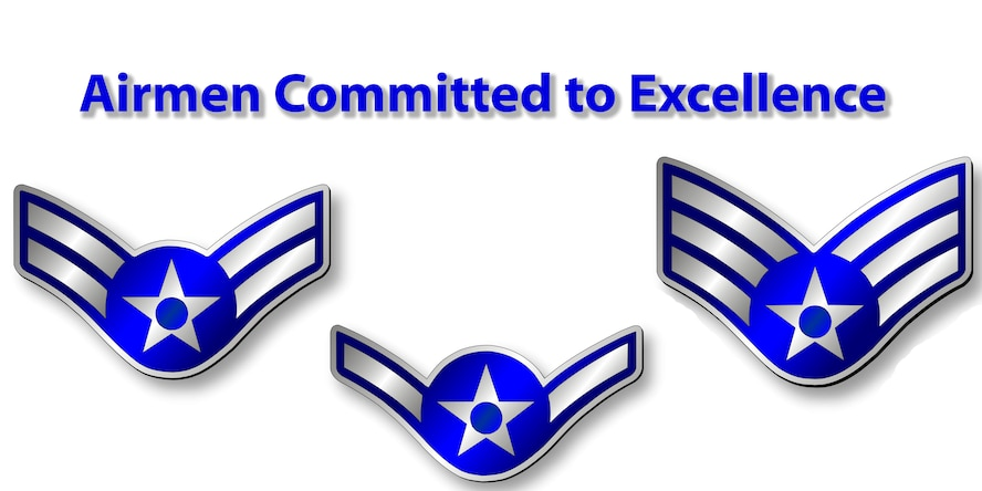 GOODFELLOW AIR FORCE BASE, Texas - Airmen Committed to Excellence gives junior enlisted Airmen a chance to excel their careers and opportunities to lead their peers. (U.S. Air Force graphic/ Senior Airman Joshua Edwards)