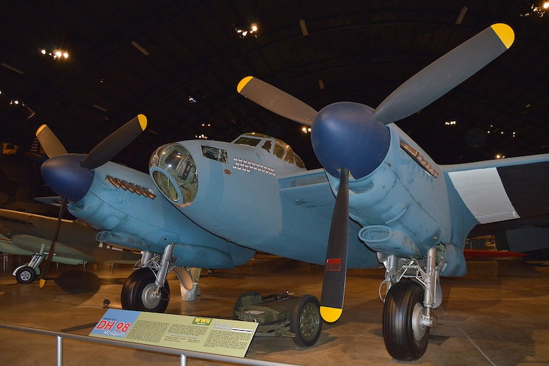 DAYTON, Ohio -- De Havilland DH 98 Mosquito in the World War II Gallery at the National Museum of the United States Air Force. (U.S. Air Force photo)