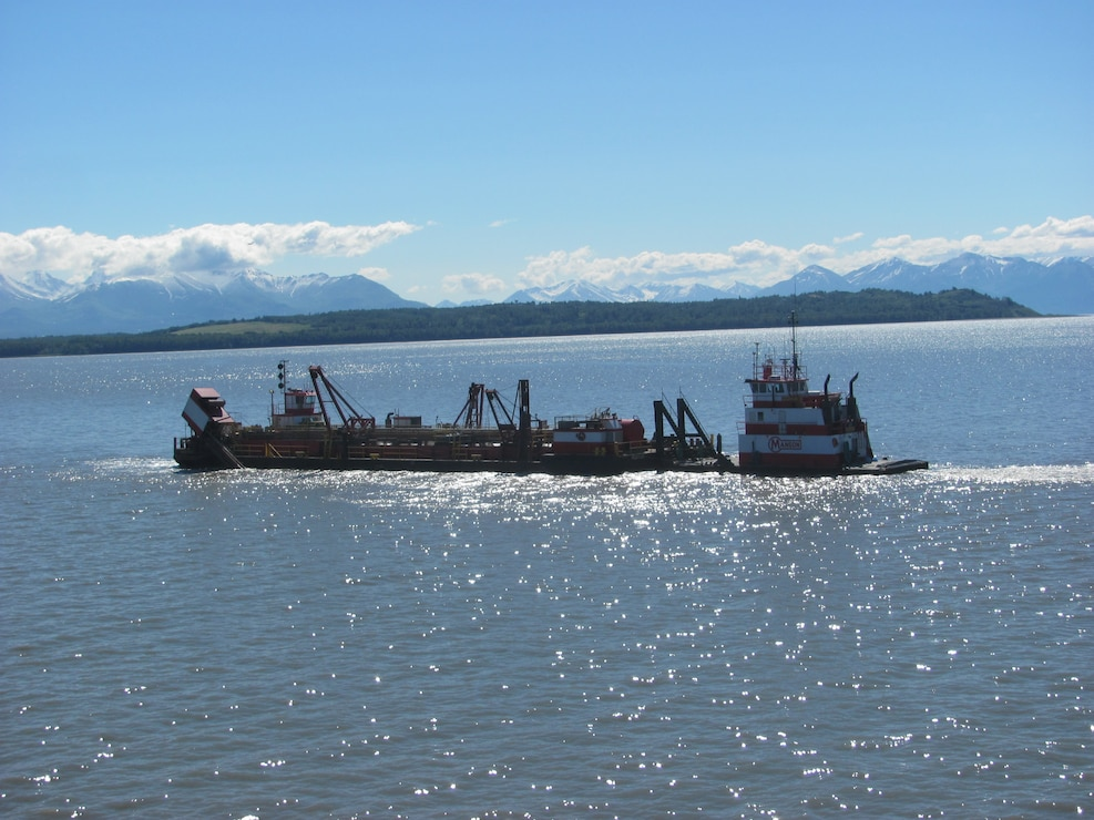 The Westport conducts maintenance dredging of Cook Inlet Navigation Channel in June, 2014.