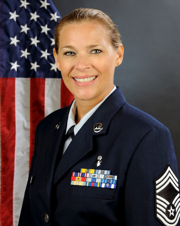U.S. Air Force Chief Master Sgt. Kellie Vinson, 169th Medical Group at McEntire Joint National Guard Base, South Carolina Air National Guard, Sept. 5, 2013.  (U.S. Air National Guard photo by Tech. Sgt. Caycee Watson/Released)