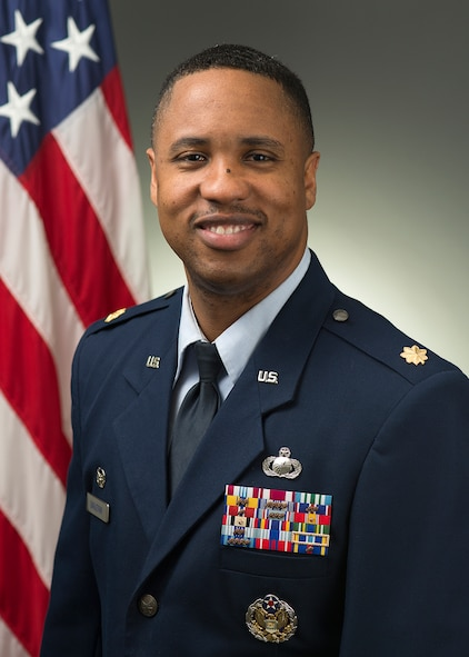 Maj. Douglass Eagleton, 460th Comptroller Squadron commander