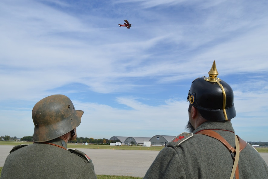 DAYTON, Ohio -- World War I aircraft took to the skies during the Ninth WWI Dawn Patrol Rendezvous on Sept. 27-28, 2014, at the National Museum of the U.S. Air Force. (U.S. Air Force photo)