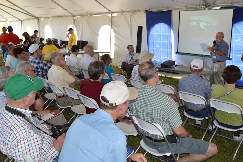 DAYTON, Ohio -- A multi-activity tent featured lectures by seven authors during the Ninth WWI Dawn Patrol Rendezvous on Sept. 27-28, 2014. (U.S. Air Force photo)