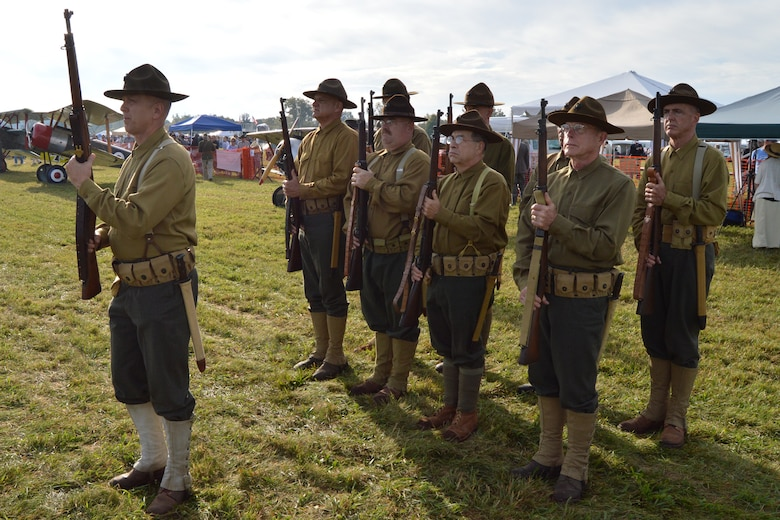 DAYTON, Ohio -- Visitors encountered more than 60 re-enactors performing skits in a war encampment during the Ninth WWI Dawn Patrol Rendezvous on Sept. 27-28, 2014. (U.S. Air Force photo)