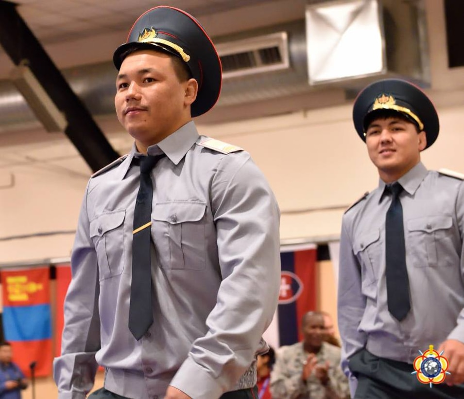 Members of the Kazakhstan Delegation during the Opening Ceremony of the 29th CISM World Military Wrestling Championship at Joint Base McGuire-Dix-Lakehurst (MDL), New Jersey 1-8 October