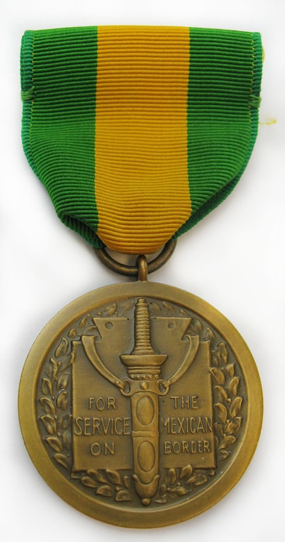 This Mexican Border Service Medal was awarded to Gen. Nathan Twining (Oct. 11, 1897-March 29, 1982), who served as a corporal with Company H of the Third Oregon Infantry (National Guard) on the U.S.-Mexico border from June through September 1916. In 1919 he attended the United States Military Academy and went on to active duty, retiring from the U.S. Air Force Sept. 30, 1960. (U.S. Air Force photo)