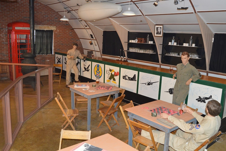 DAYTON, Ohio -- This recreation diorama is part of the Nissen Hut exhibit, located on the grounds of the National Museum of the United States Air Force. (U.S. Air Force photo)