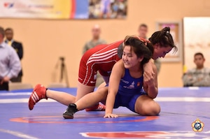 The 2014 CISM World Military Wrestling Championship at Joint Base McGuire-Dix-Lakehurst, New Jersey on 3 October 2014.