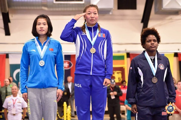 Mongolia wins gold: 60 kg