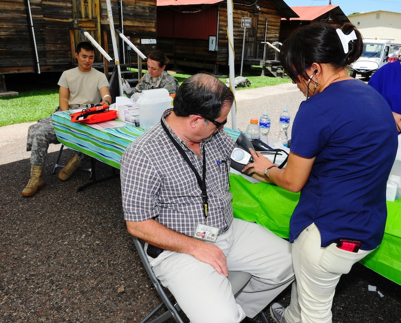 Joint Task Force-Bravo's Medical Element (MEDEL) and the Army Support Activity hosted the Soto Cano Air Base Health and Wellness Fair providing valuable health and wellness information for all military and Department of Defense civilians on base, on October 2, 2014. (Photo by Martin Chahin)
