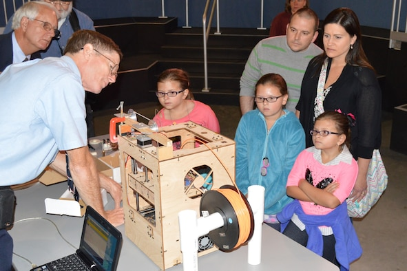 DAYTON, Ohio -- Students participate in aerospace demonstration stations during Home School Day on October 6, 2014, at the National Museum of the U.S. Air Force. (U.S. Air Force photo)