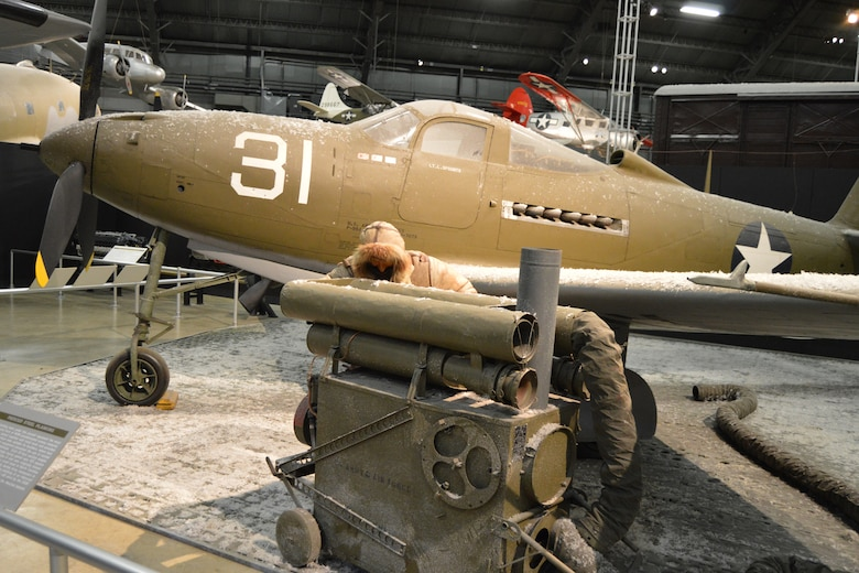 DAYTON, Ohio -- Bell P-39Q Airacobra in the World War II Gallery at the National Museum of the United States Air Force. (U.S. Air Force photo)
