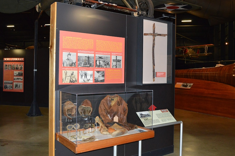 DAYTON, Ohio -- Exhibit featuring Lt. Quentin Roosevelt in the Early Years Gallery at the National Museum of the United States Air Force. (U.S. Air Force photo)