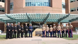 Marines and sailors visited patients of the Veterans Affairs Hospital in Palo Alto, Calif., Oct. 7. They spent time with wounded servicemembers and imparted them with words of support and enthusiasm. The visit was held during San Francisco Fleet Week 2014, which focuses on interoperability training between civil and military agencies to improve cooperation and coordination, as well as increase readiness through a range of humanitarian assistance operations.