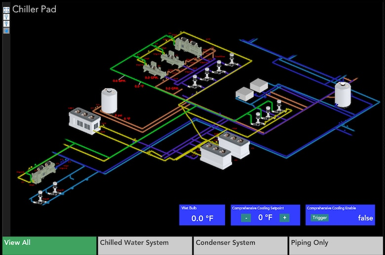 A Screen Shot of a Chilled Water System.