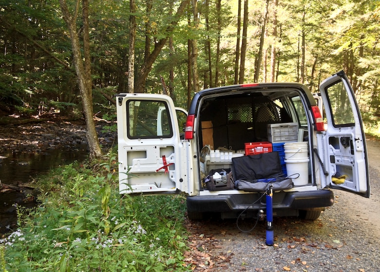 Members of the Pittsburgh District water quality team and Youghiogheny River Lake collected samples from Youghiogheny River Lake and its tributaries, Sept. 23 - 24.