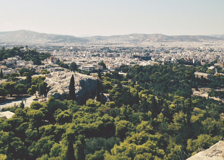As the capital and largest city in Greece, Athens is known as one of the world's largest cities and has a history that spans more than 3,400 years. With its long-standing history many come to visit the porch of the Caryatids at the Erechtheum, the Temple of Hephaestus and the Odeon of Herodes Atticus. (U.S. Air Force photo/Senior Airman Michael Battles)