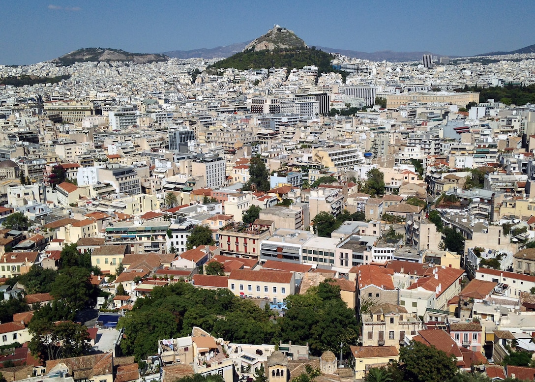 As the capital and largest city in Greece, Athens is known as one of the world's largest cities and has a history that spans more than 3,400 years. With its long-standing history, many come to visit the porch of the Caryatids at the Erechtheum, the Temple of Hephaestus and the Odeon of Herodes Atticus. (U.S. Air Force photo/Senior Airman Michael Battles)