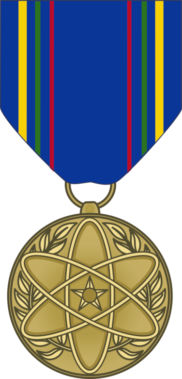 Graphic of the Nuclear Deterrence Operations Service Medal. (courtesy graphic)