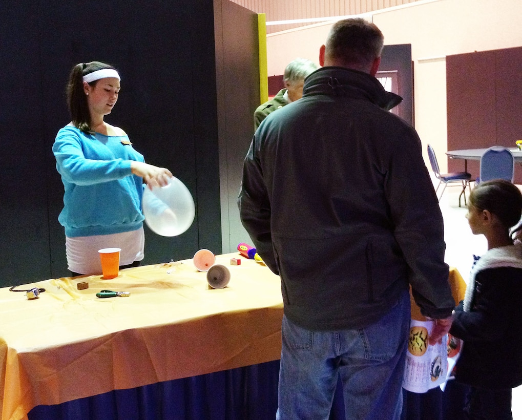 DAYTON, Ohio -- Museum visitors of all ages enjoyed learning about aerospace principles through Halloween-themed activities during Family Day at the National Museum of the U.S. Air Force. (U.S. Air Force photo)