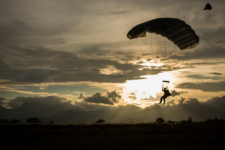 U.S. Marines with 3rd Reconnaissance Battalion and Maritime Raid Force, 31st Marine Expeditionary Unit conduct free fall jumps during Amphibious Landing Exercise (PHIBLEX) 15 at Basa Air Base, Pampanga, Philippines, Oct. 8, 2014. PHIBLEX is an annual, bilateral training exercise conducted by the Armed Forces of the Philippines, U.S. Marines and Navy to strengthen interoperability across a range of capabilities to include disaster relief and contingency operations.