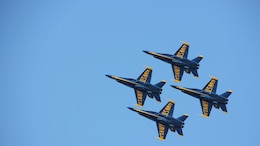 The Blue Angels fly over Marina Green, San Francisco, during the San Francisco Fleet Week 2014 Air Show, Oct. 11.  In partnership with the U.S. Navy, the Marine Corps is a force perfectly designed and suited for both crisis response and maritime security.  No forces are more suitable to addressing emerging humanitarian assistance and disaster relief needs than naval amphibious forces.