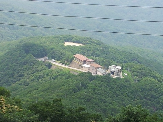 Madison Site sits atop Mount Gwanggyosan, some 700 meters high in elevation. Thanks to the work of Far East District engineers water now flows freely at the site.