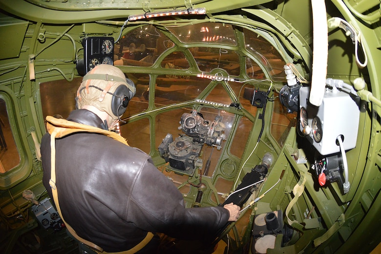 DAYTON, Ohio - Consolidated B-24D bombardier position at the National Museum of the U.S. Air Force. (U.S. Air Force photo)