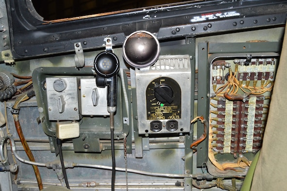 """DAYTON, Ohio -- Consolidated B-24D """"Strawberry Bitch"""" cockpit at the National Museum of the United States Air Force. (U.S. Air Force photo)"""