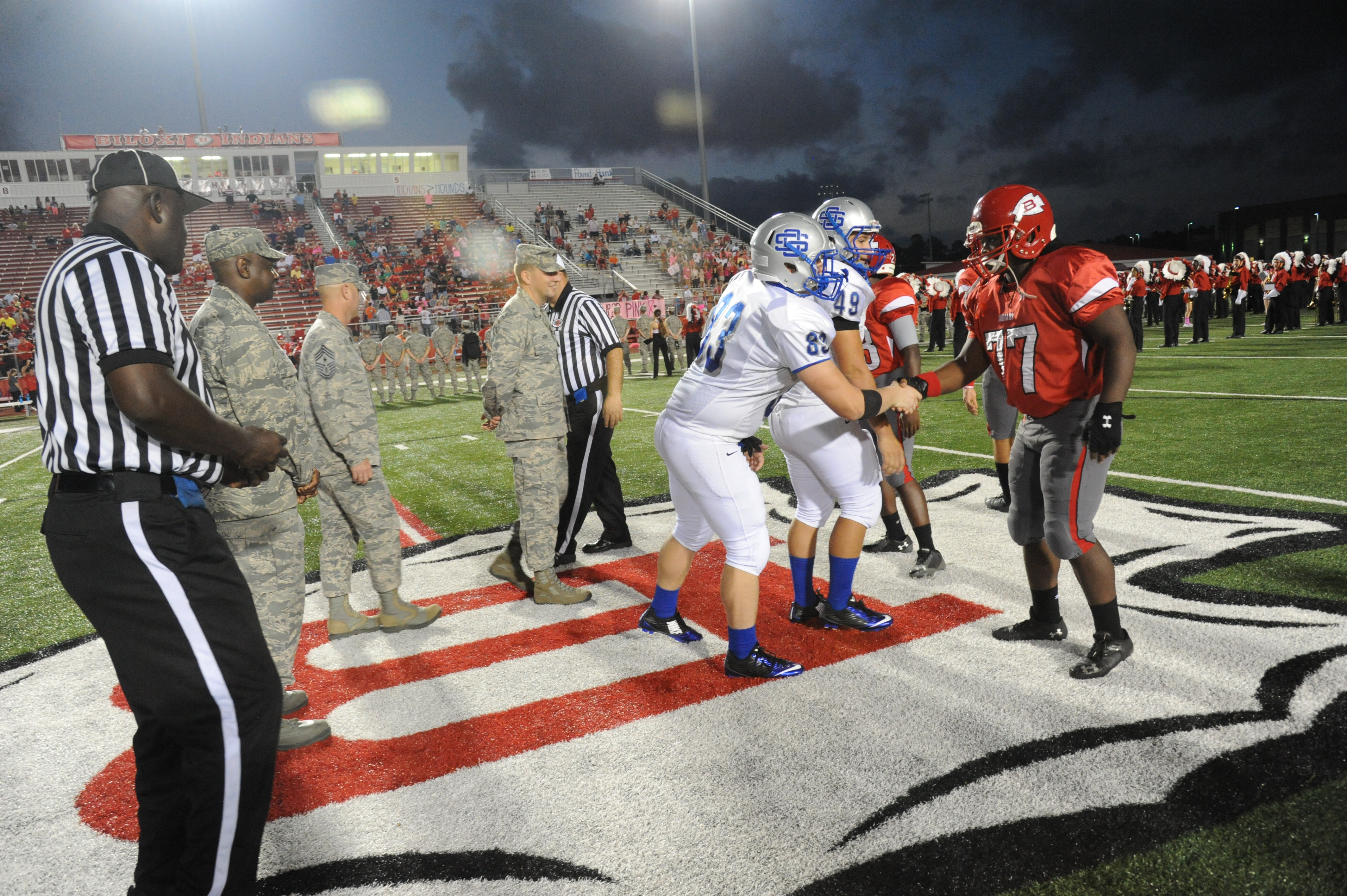 Keesler Participates In Biloxi High School Military Appreciation