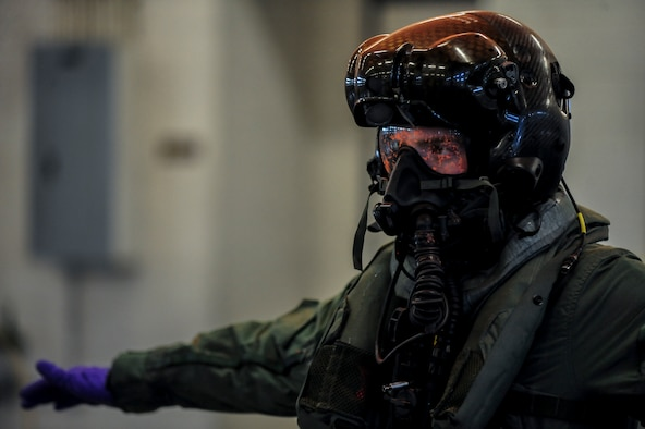 Airman 1st Class Kyle Rogers goes through decontamination procedures during an Air Combat Command Joint Aircrew Flight Equipment evaluation testing Oct. 14, 2014, at Seymour Johnson Air Force Base, N.C. Representatives from several bases were on hand to test current and future flight equipment for every aircraft in the Air Force inventory. Rogers is an aircrew flight equipment specialist assigned to the 355th Operations Support Squadron at Davis-Monthan Air Force Base, Ariz. (U.S. Air Force photo/Airman 1st Class Brittain Crolley)