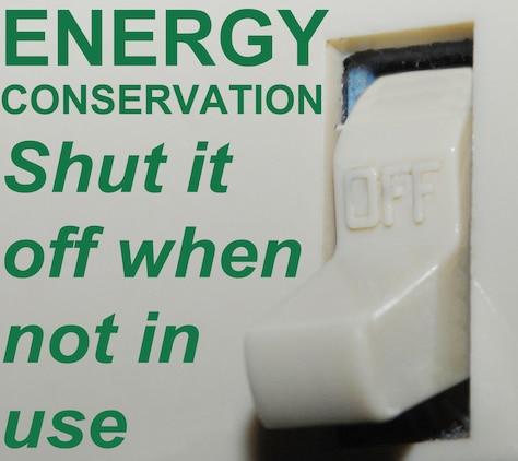 Marine Corps Logistics Base Albany officials encourage energy conservation.