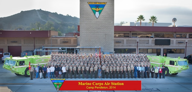 A command photo of Marine Corps Air Station Camp Pendleton.