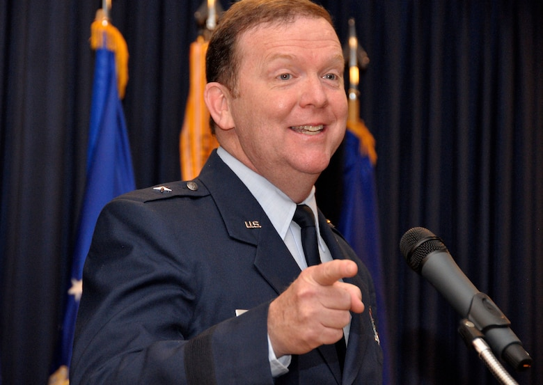 Brigadier General Richard Scobee assumed command of 10th Air Force during a change of command ceremony at Naval Air Station Fort Worth Joint Reserve Base, Texas, October 18, 2014. General Scobee assumed command from outgoing commander Major General William Binger.