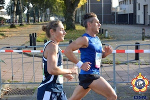 Air Force Staff Sgt. Emily Shertzer - 5th (7th overall) 2:49:56 during the 46th CISM Marathon World Military Championship 9-14 October 2014 in Eindhoven, Netherlands. The US Women took the team silver.