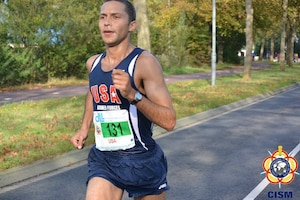 Coast Guard LT Patrick Fernadez leads the US men with a time of 2:25:11 placing 20th overall in the CISM Men's Division.  The US Men placed 7th overall during the 46th CISM Marathon World Military Championship 9-14 October 2014 in Eindhoven, Netherlands.