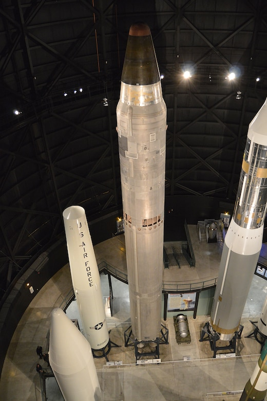 DAYTON, Ohio -- Martin Marietta SM-68B/LGM-25C Titan II in the Missile and Space Gallery at the National Museum of the United States Air Force. (U.S. Air Force photo)