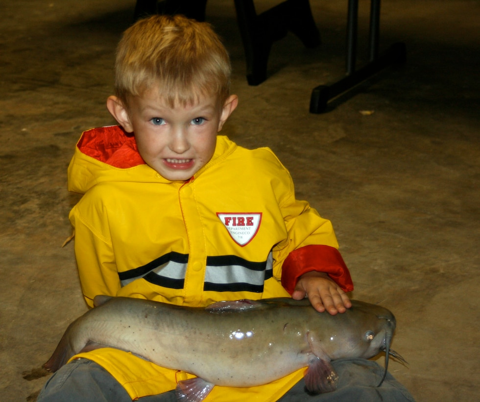 In June 2007, 4-year-old Ty Nordstrom caught a 7-pound catfish in Lake Kirby, Abilene, Texas. In October 2007, Ty faced an even bigger battle when he was diagnosed with non-rhabdomyosarcoma cancer. He died in November 2009, one month before his seventh birthday. Ty's dad, Master Sgt. Lyle Nordstrom, the 352nd Special Operations Group Inspector General superintendent, shares the story of his loss to raise awareness of childhood cancer. (Courtesy photo)