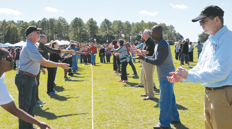 Marine Corps Logistics Command staff enjoy fun and fellowship at the 10th annual LOGCOM Employee Recognition Day, Oct. 16, at Boyett Park. This day was set aside to recognize and celebrate the dedicated support provided by the Marines and civilian-Marines of LOGCOM.