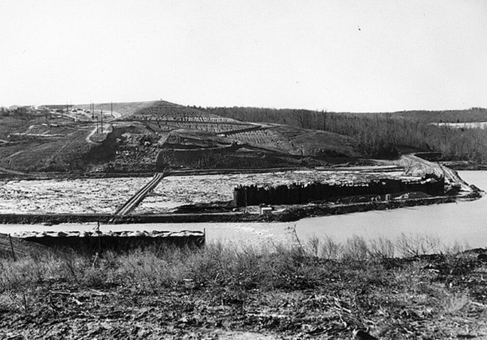 Hartwell Dam February 1958