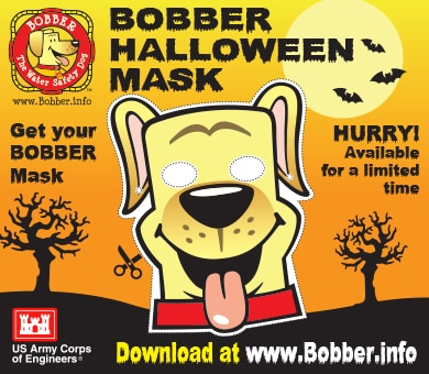Get your Bobber Halloween Mask at www.bobber.info. Only available for a limited time!