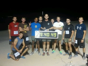 """3d LAR participated in the Base Commander's USMC Birthday Endurance Relay Run. Ten Wolf Pack Marines ran a combined distance of 239 miles and won the event by over 4 hours and 30 miles."""""""