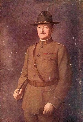 Portrait of John J. Pershing by french painter Léon Hornecker (1864-1924), oil on canvas 1903