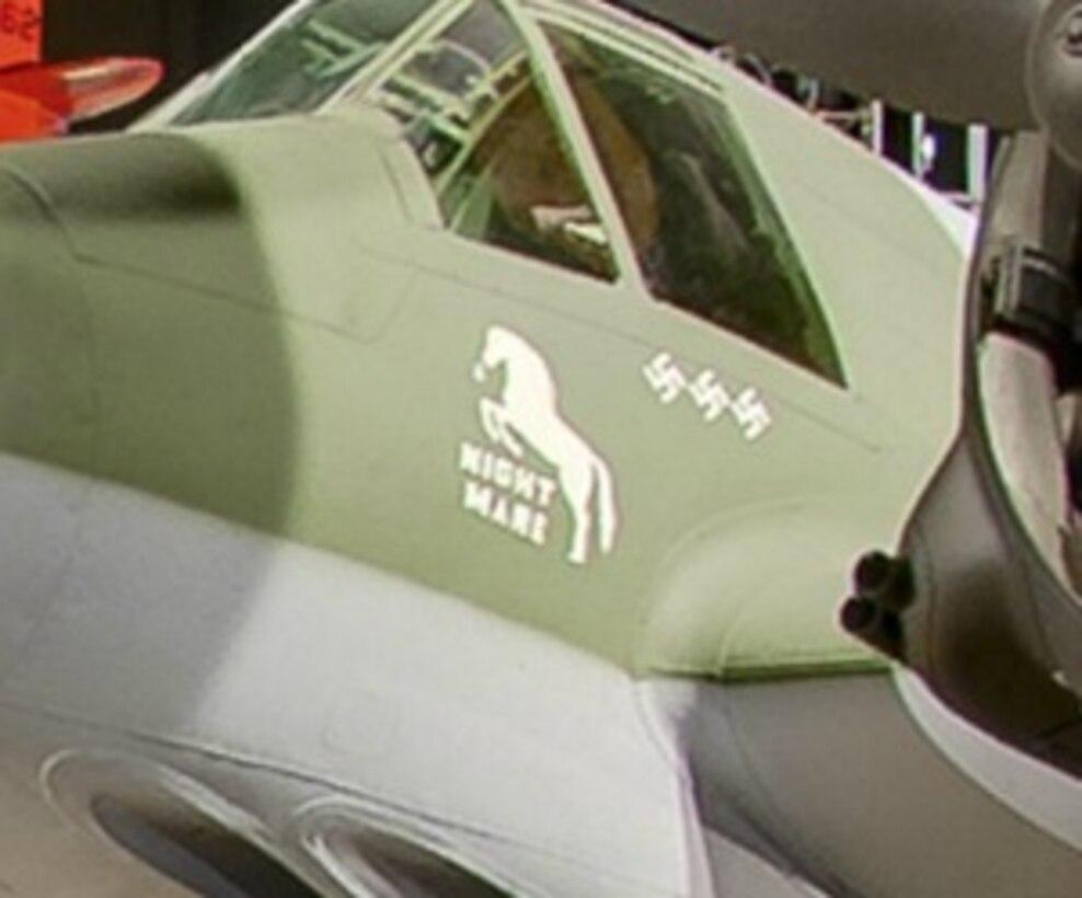 WORLD WAR II GALLERY - Close to Walt Disney, find a nightmare horse. (Screenshot from NMUSAF Virtual Tour)