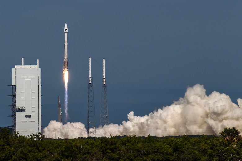 The U.S. Air Force supported the successful launch of a United Launch Alliance Atlas V rocket carrying the Air Force's eighth Block IIF navigation satellite for the Global Positioning System at 1:21 p.m. EDT Oct. 29 from Space Launch Complex 41, Cape Canaveral Air Force Station, Fla. GPS is a space-based, world-wide navigation system providing users with highly accurate, three-dimensional position, velocity and timing information 24 hours a day in all weather conditions, and GPS satellites also serve and protect our warfighters by providing navigational assistance for U.S. military operations on land, at sea, and in the air.   (Photo/John Studwell)