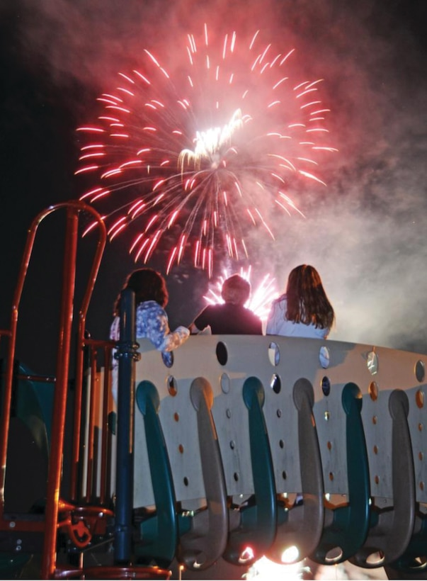 The 3rd annual fireworks display was held July 5, 2014, at Fishtrap Lake.