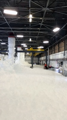 A foam test is conducted at Joint Base Andrews, Md.